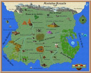 Mapa Wolyan. La caja de Bernit. Libros Prohibidos