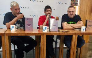 Emilio Bueso en la presentación de Gigamesh