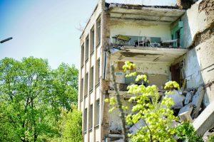Edificio destruido en Chernóbil